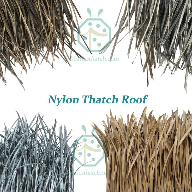 synthetic nylon thatch for gazebo roof covering