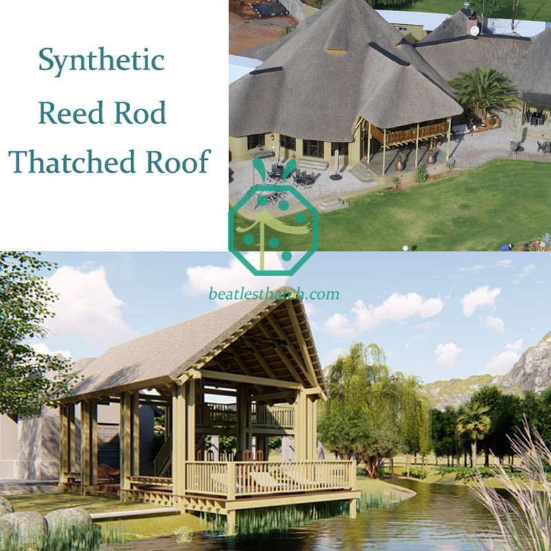 Synthetic Reed Rod Thatched Roof For Bungalow Structures