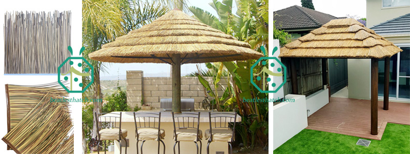 synthetic african reed thatch for garden gazebo roofing