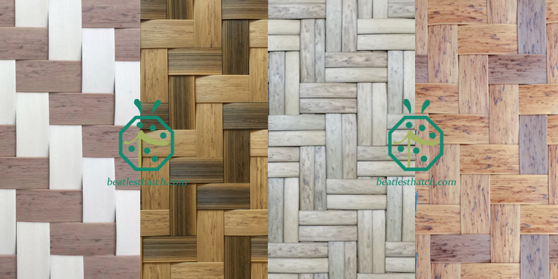 artificial bamboo woven wall covering panels