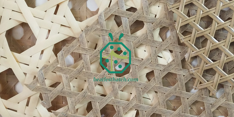 Plastic rattan webbing panel for resort room decoration