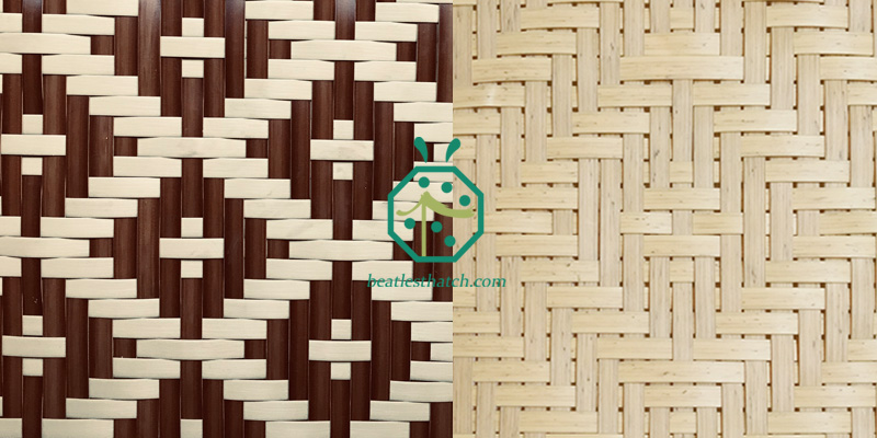 Dimond Pattern Plastic Reed Woven Ceiling Panels