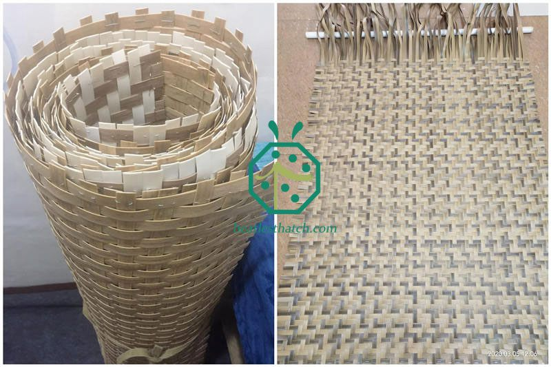 Synthetic Bamboo Mat Weaving For Wall And Ceiling Decoration Design