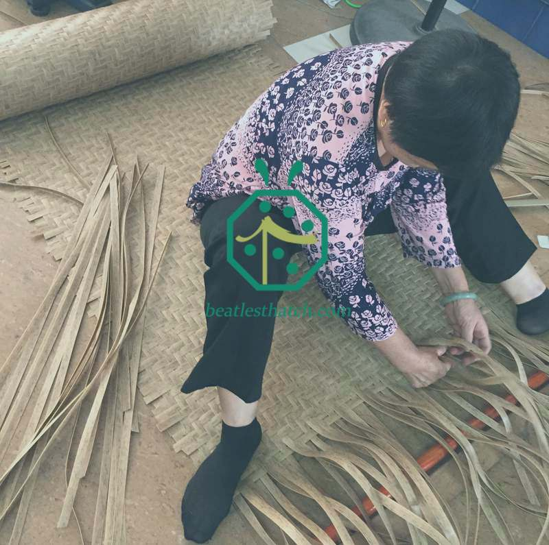 Weaving of Plastic Rattan Cane Webbing