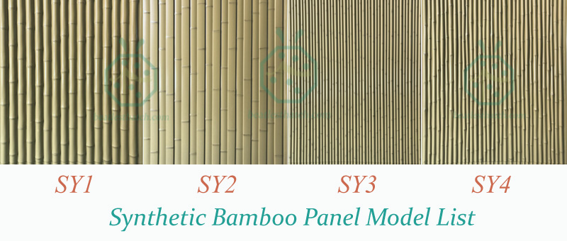 Product Series of Japanese Style Plastic Bamboo Screen Panels