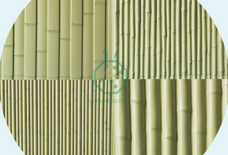 Plastic bamboo panels for wall and fence decoration