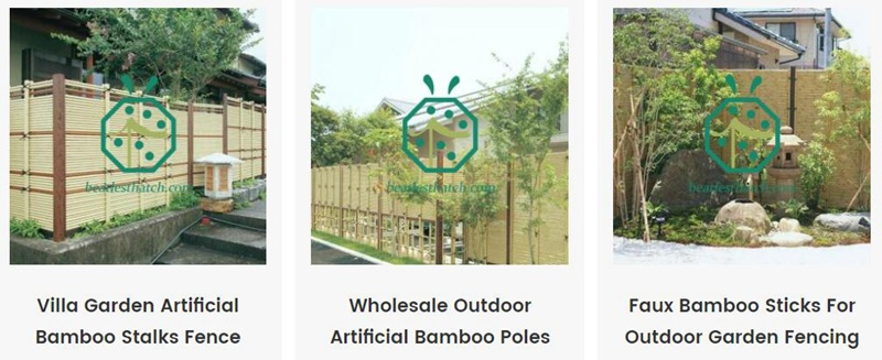 Plastic Bamboo Sticks For Outdoor Garden Fencing