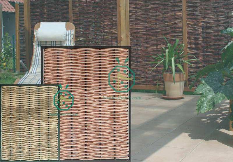Artificial Willow Woven Screen Fence For Patio Border