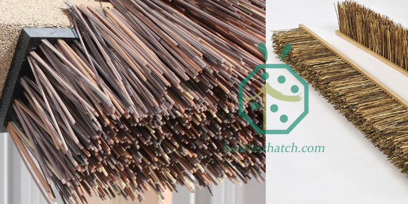 Synthetic African Cape Reed Thatch Eave Tile For Tiki Hut Installation