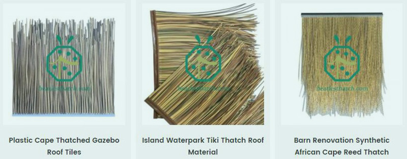Artificial Nipa Hut Cape Reed Thatch Roof Panel
