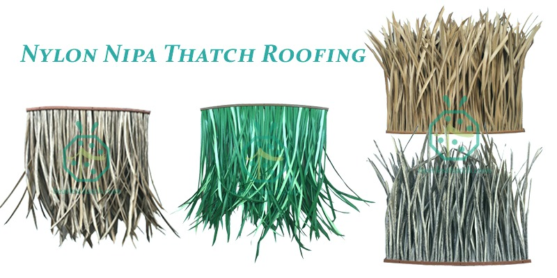 Beach hideaway resort synthetic shelter thatch roof panels