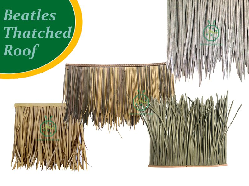 Synthetic Mexican Palm Thatch Roof Panels For Palapa, Bohio, Gazebo Construction