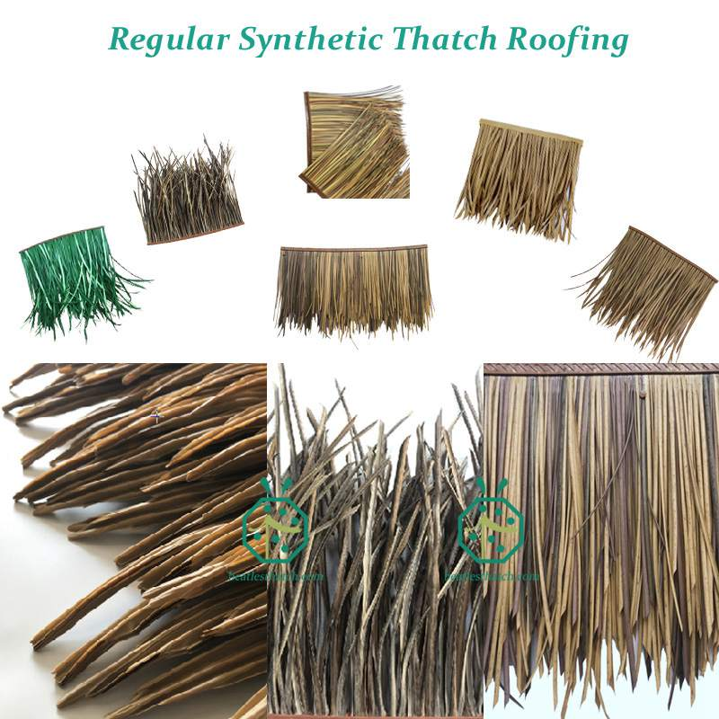 Artificial thatch roofing tiles for various wooden house structures in your garden backyard