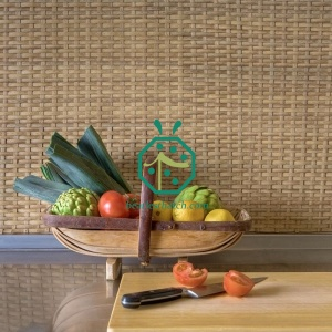 Synthetic PE Rattan Mat For Bungalow Decoration