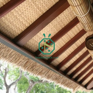 bungalow rattan mat wall decoration