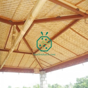 Fireproof Plastic Reed Mat For Gazebo Ceiling