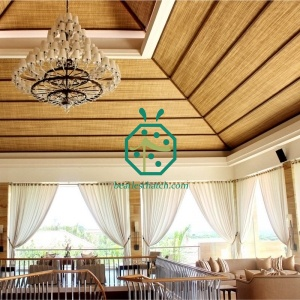 Thailand Plastic Bamboo Ceiling Mat For Interior Decoration