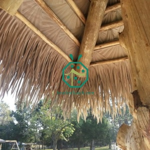 Synthetic gazebo palm thatch roof