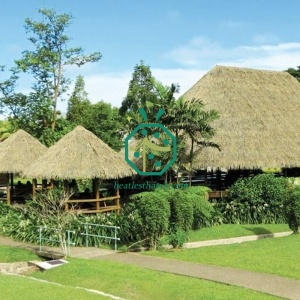 Zoo Park Sunshade Synthetic Palm Thatch Roof