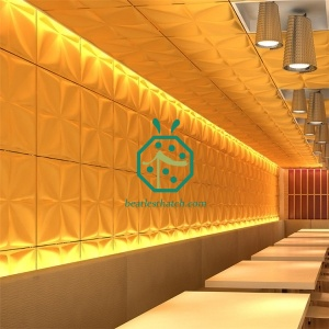 PVC 3D Wall Tiles for Restaurant Decoration