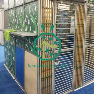 animal cage steel bamboo poles