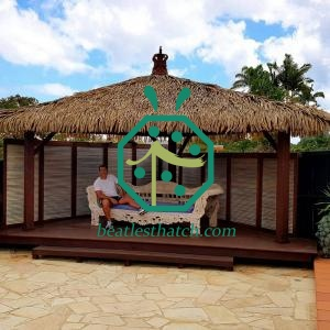 Thermal Insulation Synthetic Palm Thatch For Garden Shed
