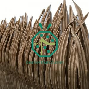 Thermal insulation synthetic thatch roof