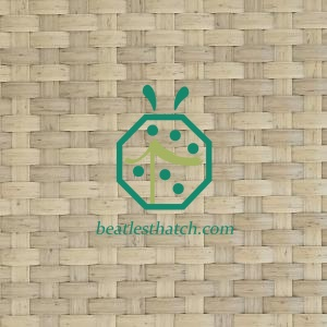 Tropical patio woven straw mat