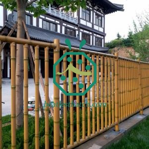 Theme park iron bamboo fencing