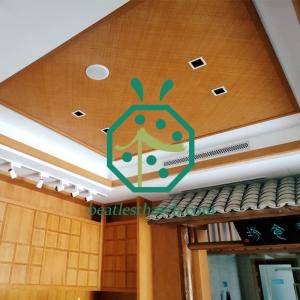 Synthetic chalet bamboo ceilng