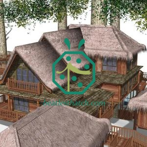 Fireproof Plastic Treehouse Thatched Roof Tiles