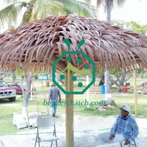 Synthetic palm leaf thatch Panama