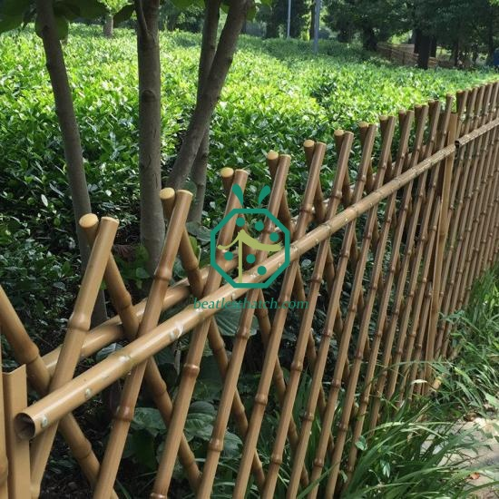 Iron bamboo fencing France