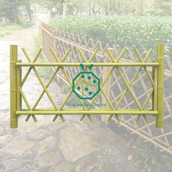 Iron bamboo fencing Korea