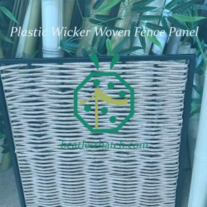 Synthetic wicker fence UK