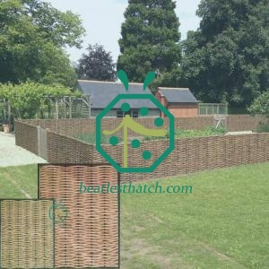 Synthetic willow garden fencing