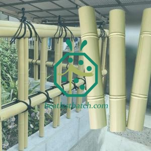 Large decorative plastic bamboo sticks