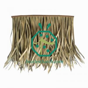 Synthetic tiki bar bamboo thatch roof