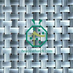 Plastic bamboo weaving mat France