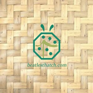 Plastic Herringbone Woven Bamboo Mat For Resort Ceiling