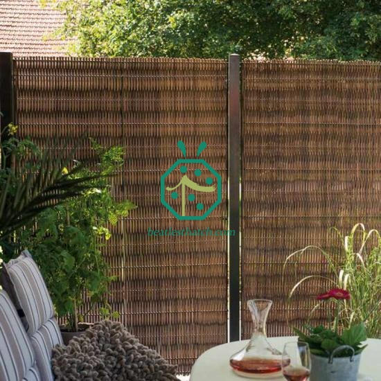 Synthetic wicker wall panel