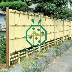 Artificial bamboo fencing panel