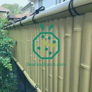 Artificial balcony bamboo fence