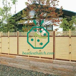 Decorative artificial bamboo poles