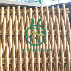 Artificial wicker ceiling panels