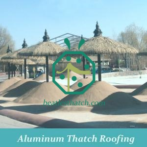 Artificial tropical thatch roof