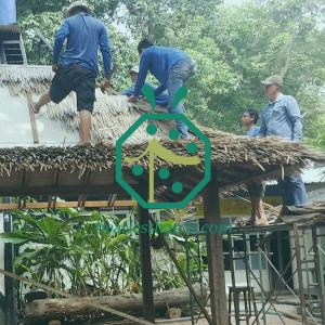 Palapa imitation thatch roofing
