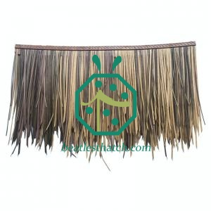 Synthetic nipa thatch shingles
