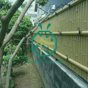 Imitation bamboo panel for DIY fencing design