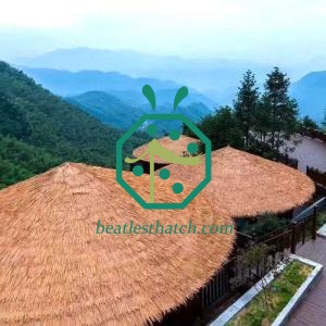 10 years lifespan garden gazebo artificial thatch roof tiles